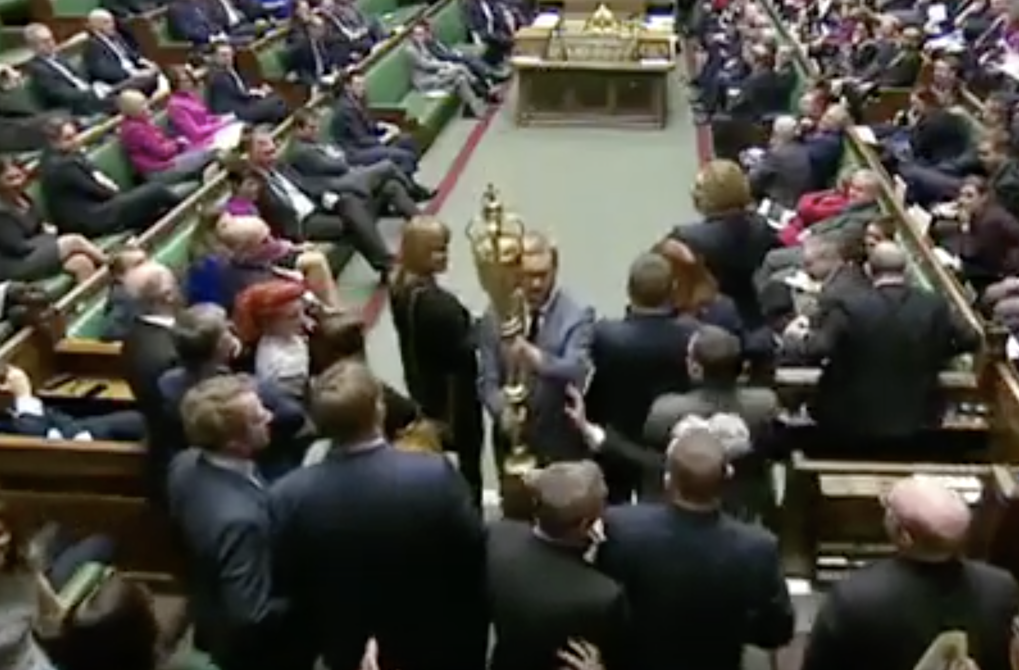 Labour MP booted out of Commons after Brexit mace protest